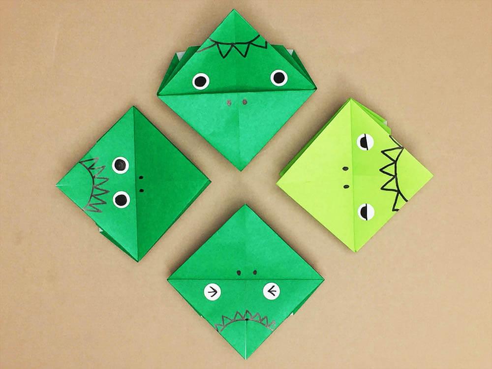 折り紙で折ったパクパクかっぱ
