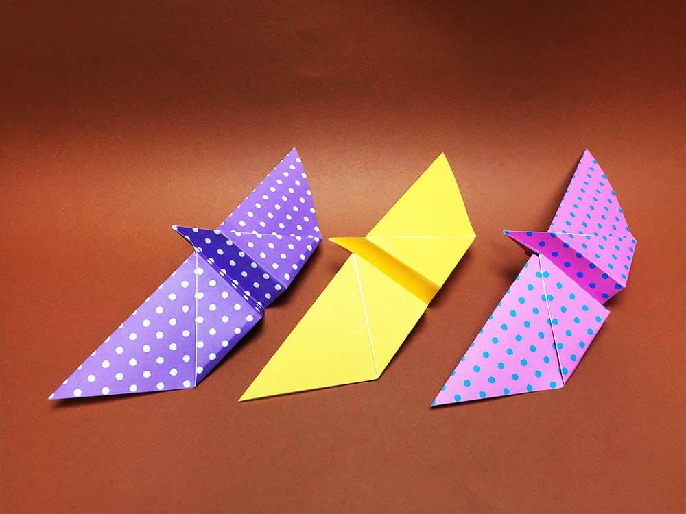 折り紙で折ったクルクルちょうちょ