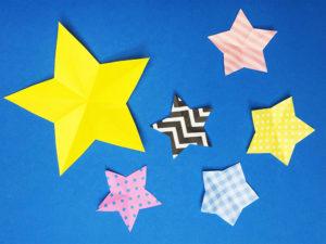 折り紙で切った星