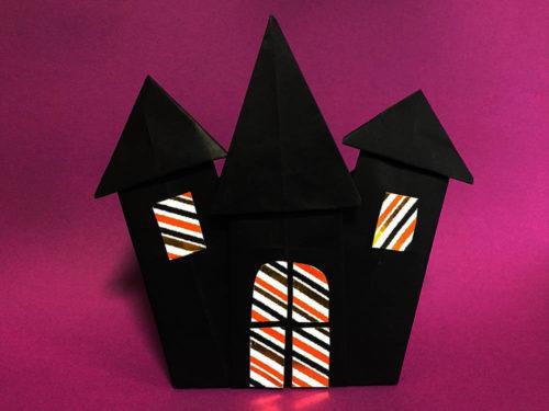 折り紙で折ったゆうれいやしき