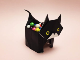 Halloween Cat and Candy Box