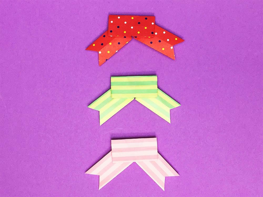 折り紙で折ったリボン