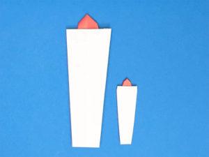 折り紙で折ったキャンドル