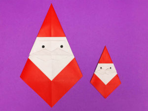 折り紙で折ったサンタクロース
