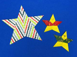 折り紙で折った星