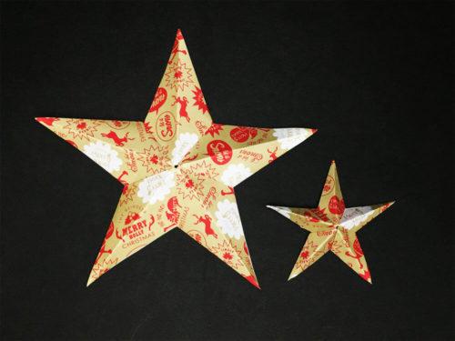 折り紙で作ったバーンスター