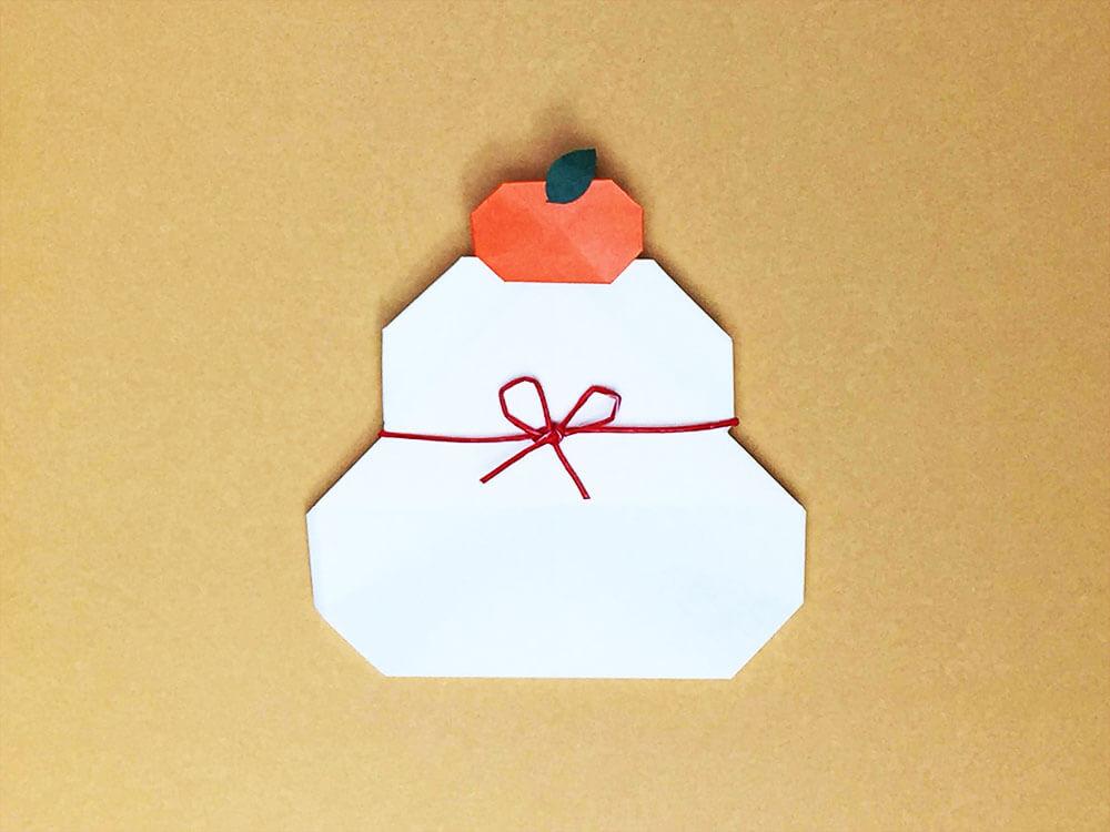 折り紙で折った鏡餅