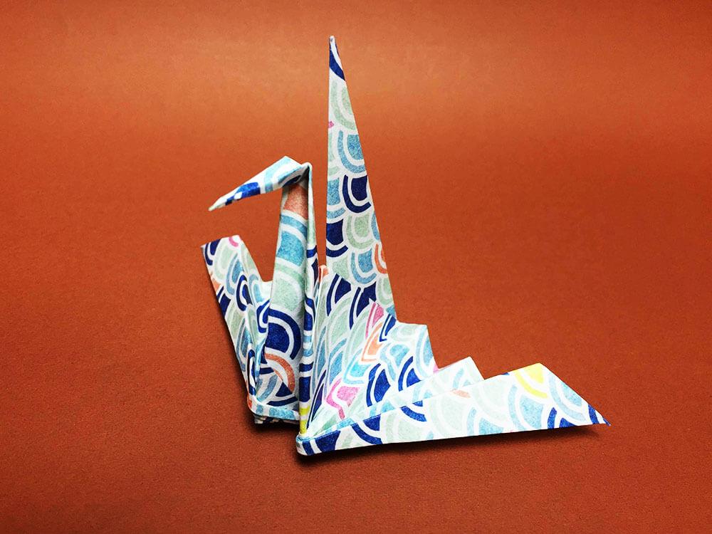 折り紙で作ったおりはづる