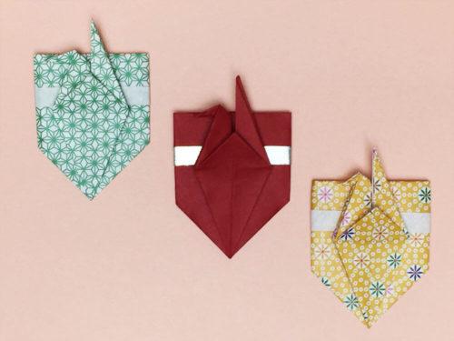 折り紙で折った鶴のポチ袋