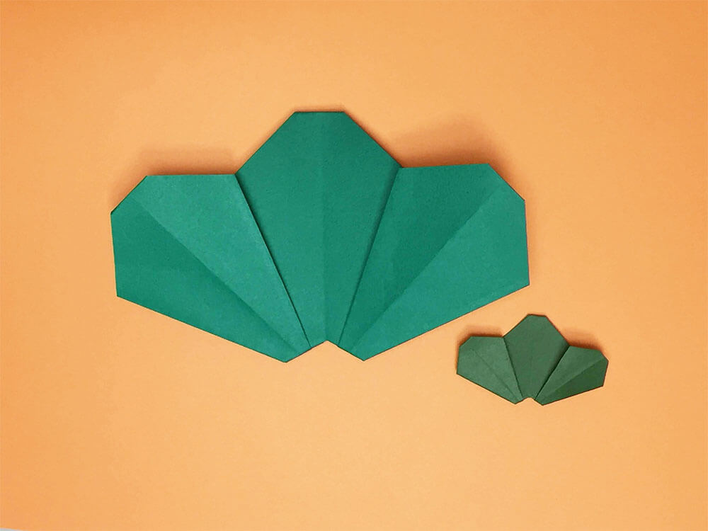 折り紙で折った松
