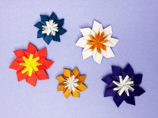 折り紙で折った花