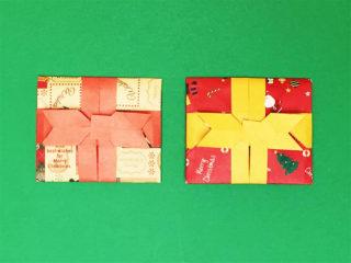 リボン付きプレゼント レター ポチ袋