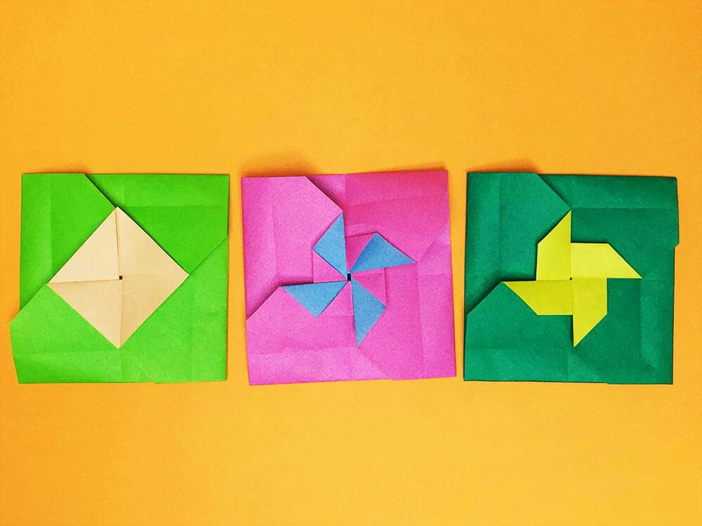折り紙で折ったたとう