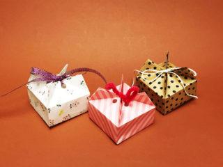 折り紙1枚のギフトボックス