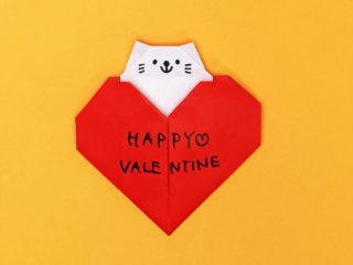 ハート猫のメッセージカード