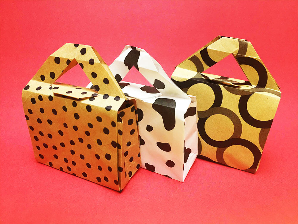 折り紙で折ったギフトバッグ