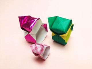 折り紙で折った指輪