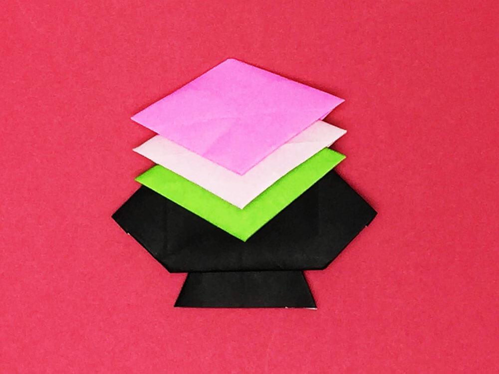 折り紙で折った菱餅