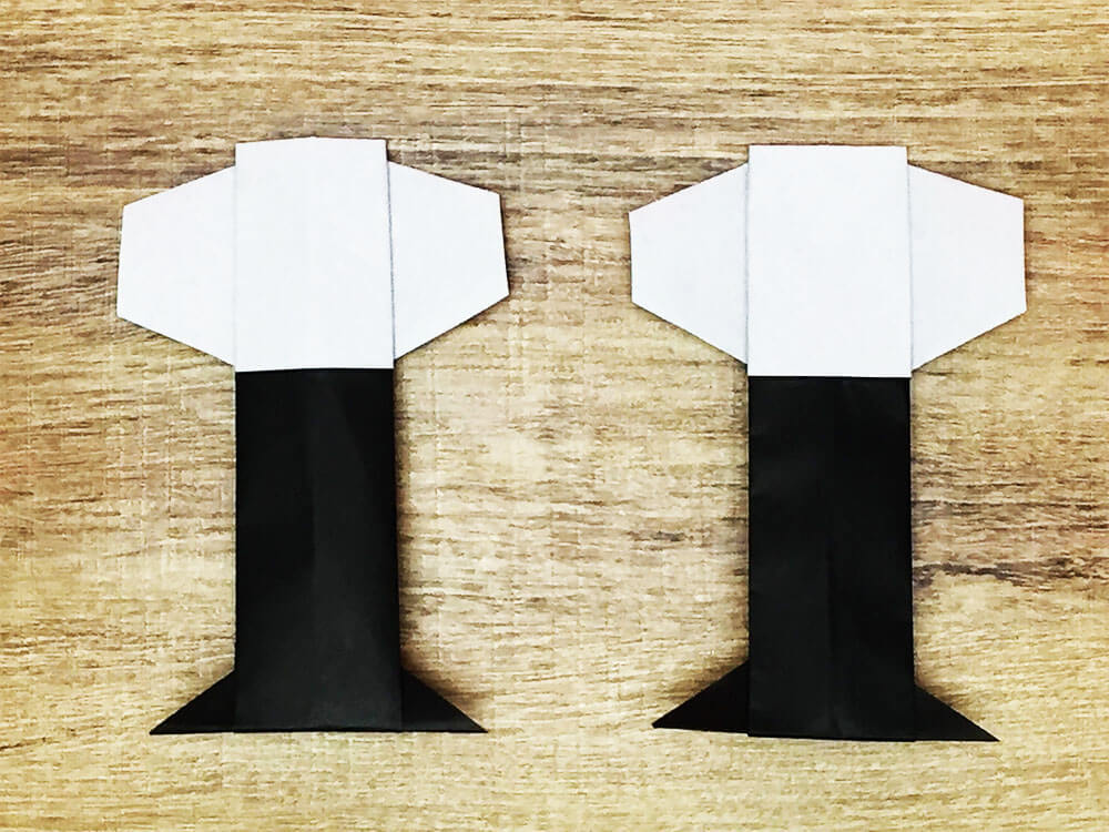 折り紙で折ったぼんぼり