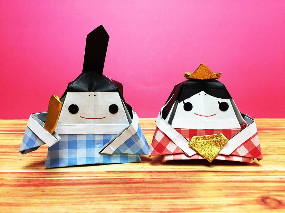 折り紙で折ったひな人形