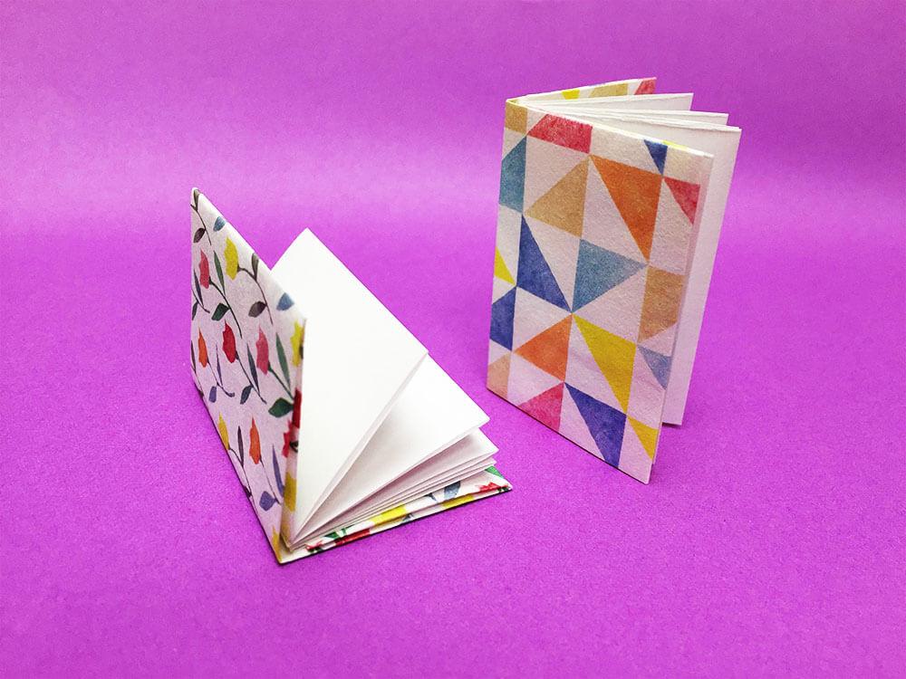 折り紙で折ったノート