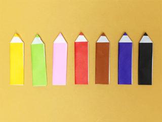 簡単な折り紙鉛筆