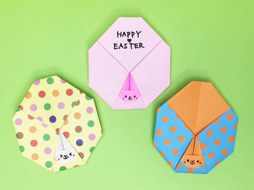 折り紙で折ったイースターエッグ
