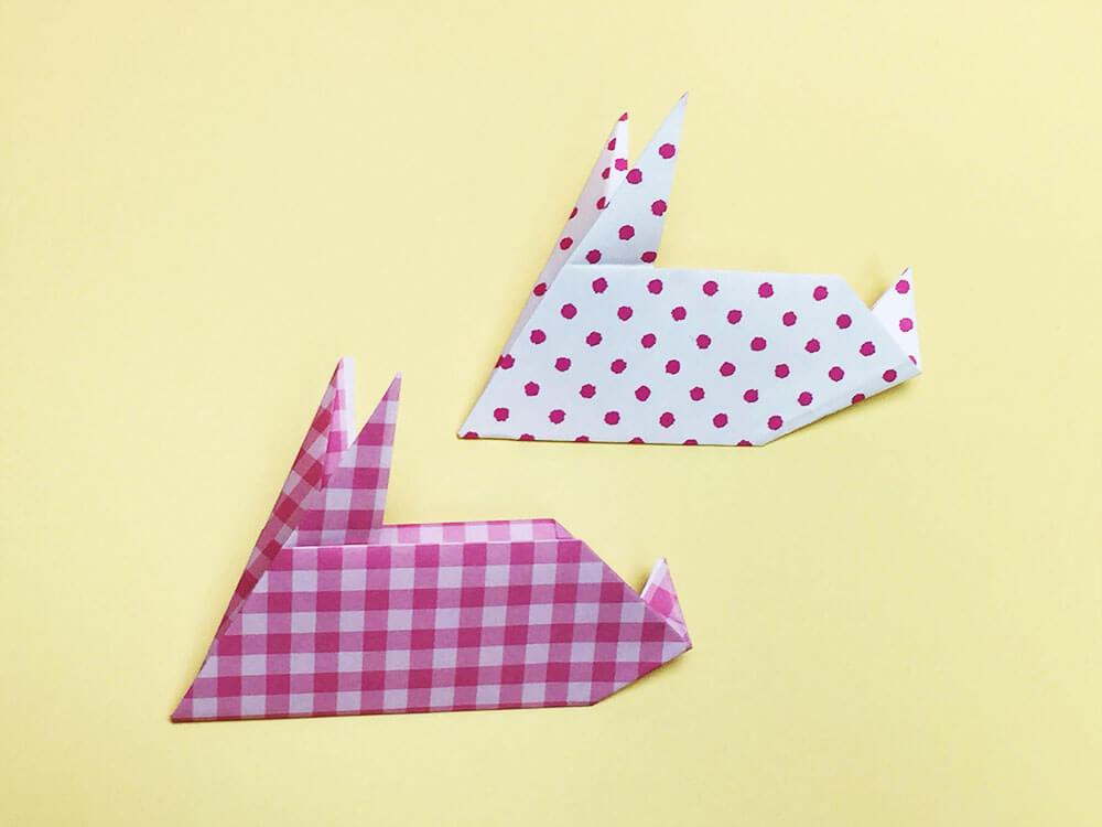 折り紙で折ったうさぎ