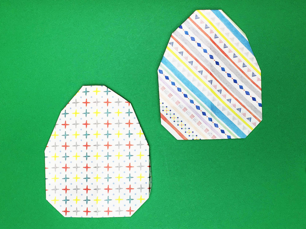 折り紙で折った卵