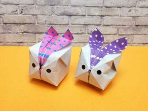 折り紙で折った風船うさぎ