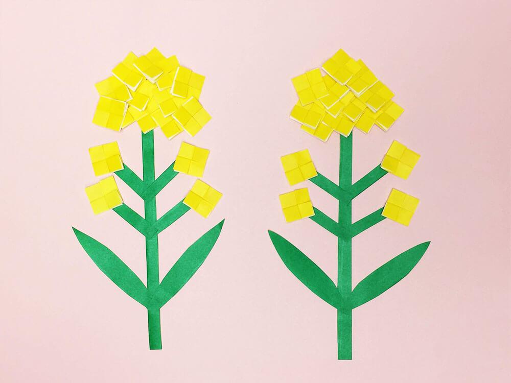 折り紙で折った菜の花