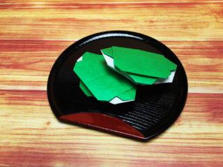 折り紙で折った柏餅