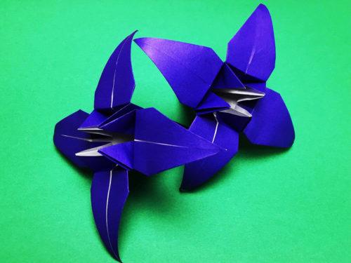 折り紙で折ったアヤメ
