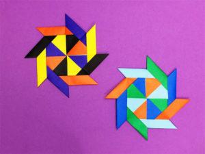 折り紙で作ったユニット星