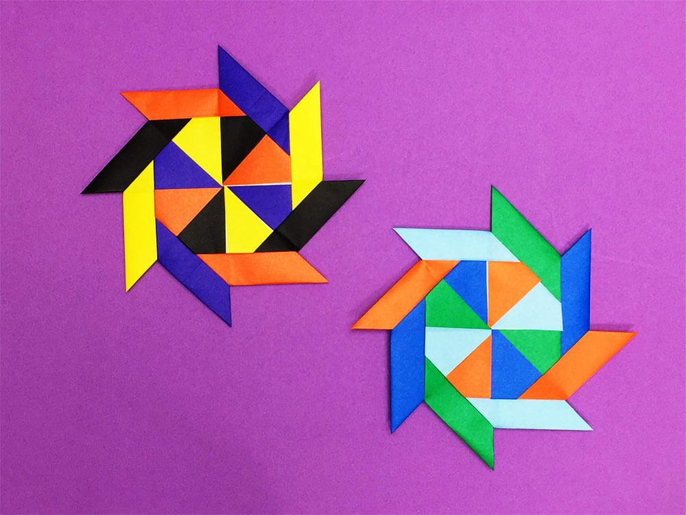 折り紙で折った八方手裏剣