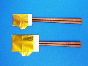 折り紙で折ったビールの箸袋