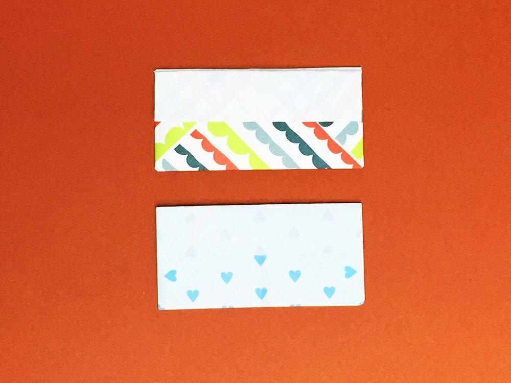 折り紙で折った財布