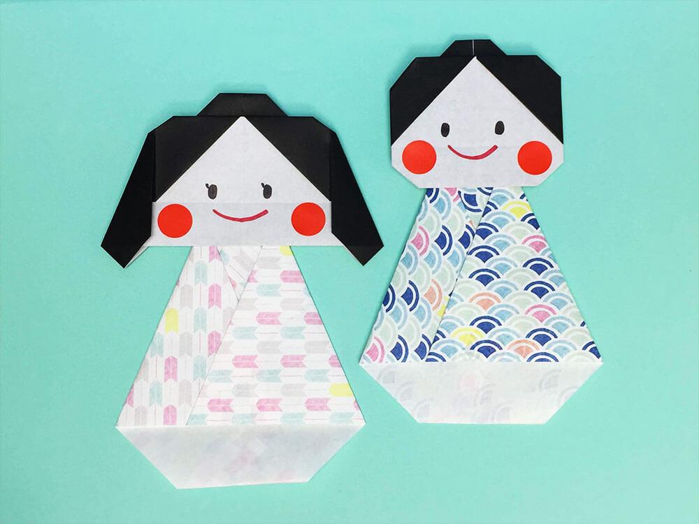 折り紙で折った織姫と彦星