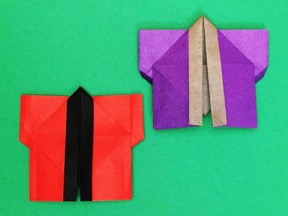 折り紙で折ったはっぴ