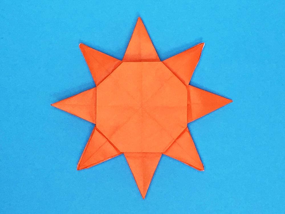折り紙で折った太陽