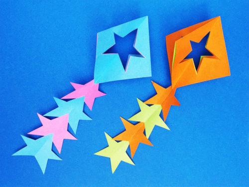 折り紙で折った星飾り