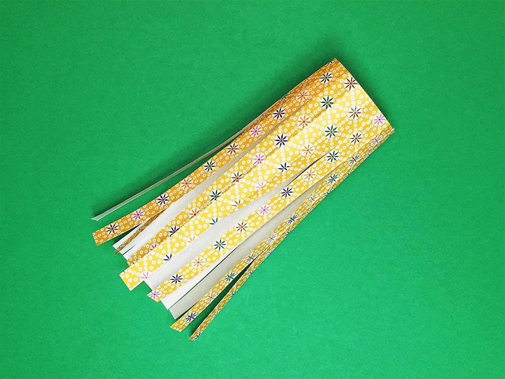 折り紙で折った吹き流し