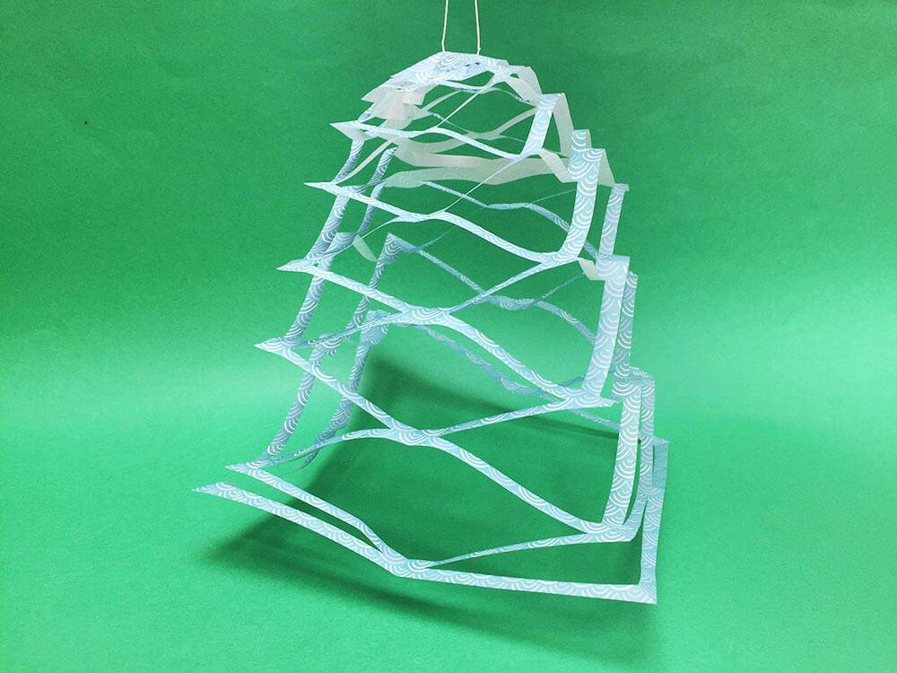 折り紙で折った投網