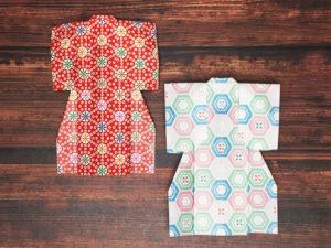 折り紙で折った着物