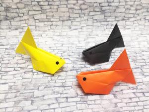 折り紙で折った風船金魚