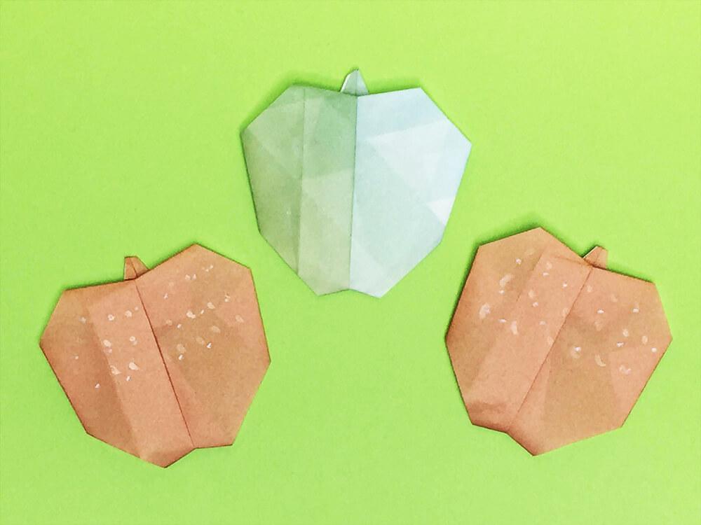 折り紙で折った梨