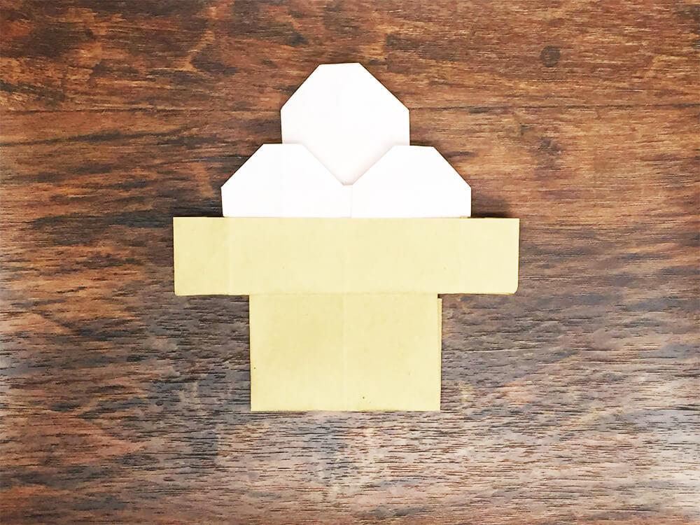 折り紙で折ったお月見団子