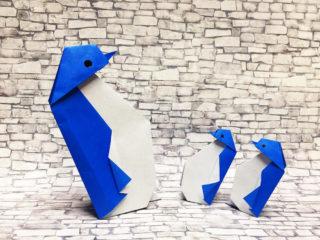 折り紙で折ったペンギン
