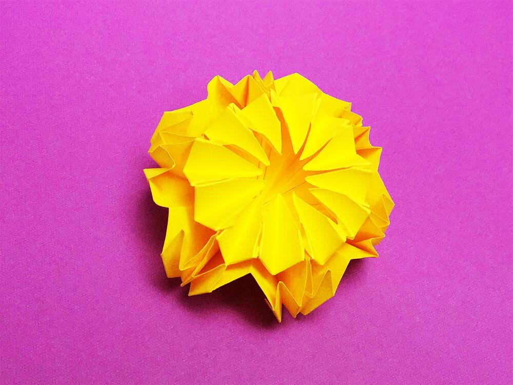 折り紙で折った菊