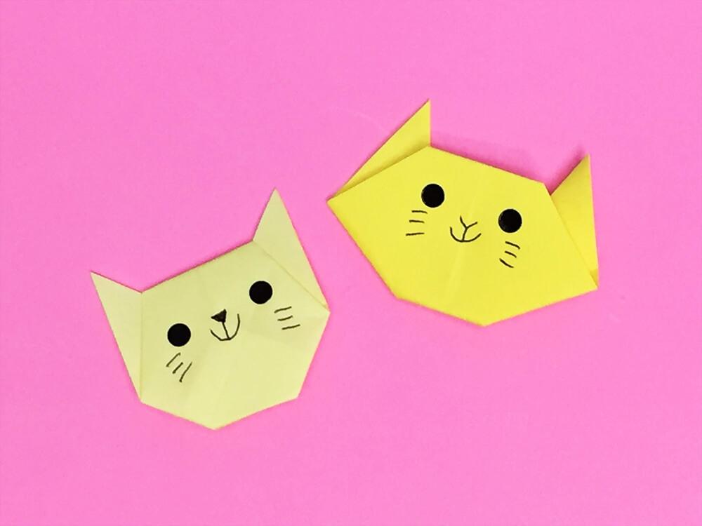 折り紙で折ったネコ